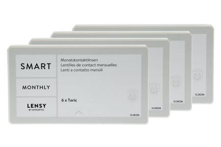 Lensy Monthly Smart Toric, 4x6 Stück Kontaktlinsen von Dynoptic