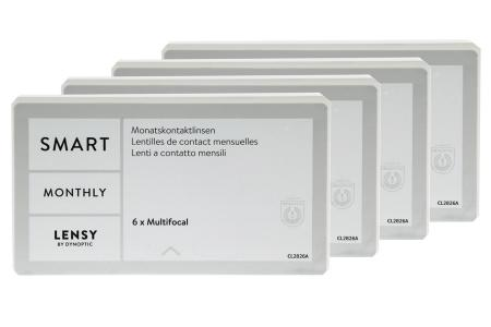 Lensy Monthly Smart Multifocal, 4 x 6 Stück
