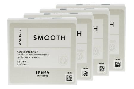 Lensy Monthly Smooth Toric, 4 x 6 Stück Kontaktlinsen von Dynoptic
