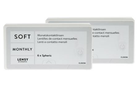 Lensy Monthly Soft Spheric, 2 x 6 Stück