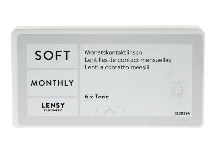 Lensy Monthly Soft Toric, 6 Stück