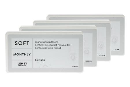 Lensy Monthly Soft Toric, 4 x 6 Stück