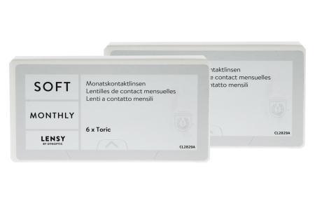 Lensy Monthly Soft Toric, 2 x 6 Stück