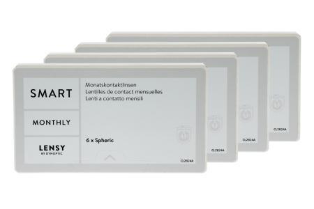 Lensy Monthly Smart Spheric, 4 x 6 Stück Kontaktlinsen von Dynoptic
