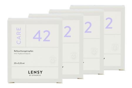 Lensy Care 42 4 x 20 x 0.35 ml Augentropfen | Lensy Care 42 4 x 20 x 0.35 ml Monodosen