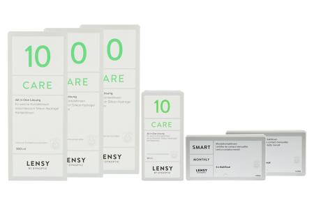 Lensy Monthly Smart Multifocal & Lensy Care 10, Halbjahres-Sparpaket