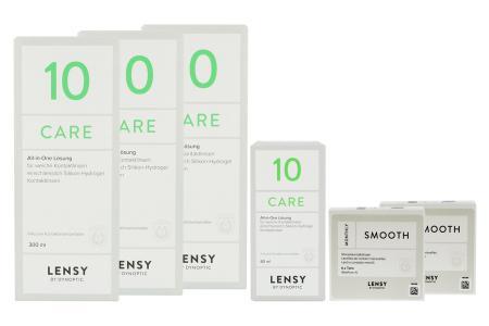 Lensy Monthly Soft Toric Kontaktlinsen von Dynoptic & Lensy Care 10, Halbjahres-Sparpaket