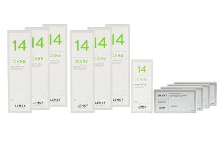 Lensy Monthly Smart Toric Kontaktlinsen von Dynoptic & Lensy Care 14, Jahres-Sparpaket