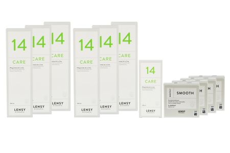 Jahres-Sparpaket, Lensy Monthly Smooth Multifocal - Lensy Care 14