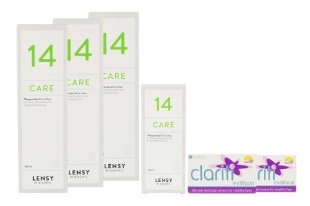 Clariti Multifocal & Lensy Care 14, Halbjahres-Sparpaket