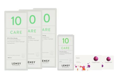 Avaira Vitality 2 x 6 Monatslinsen + Lensy Care 10 Halbjahres-Sparpaket | Avaira Vitality & Lensy Care 10 Halbjahrespaket