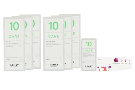 Avaira Vitality 4 x 6 Monatslinsen + Lensy Care 10 Jahres-Sparpaket | Avaira Vitality & Lensy Care 10 Jahrespaket