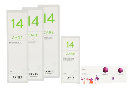 Avaira Vitality 2 x 6 Monatslinsen + Lensy Care 14 Halbjahres-Sparpaket | Avaira Vitality & Lensy Care 14, Halbjahrespaket
