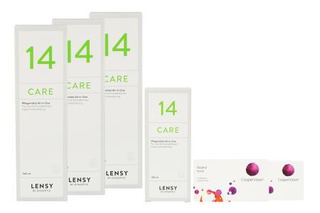 Avaira toric Vitality & Lensy Care 14, Halbjahrespaket