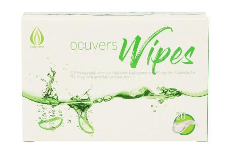 Ocuvers Wipes 20 Lidreinigungstücher | Ocuvers Wipes 20 Stück/ Lidreinigung/ Lidhygiene/ Trockene Augen/ Befeuchtung