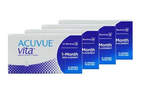 Acuvue Vita 4 x 6 Monatslinsen   Acuvue Vita, 4 x 6 Stück Kontaktlinsen von Johnson & Johnson/ Monatslinse
