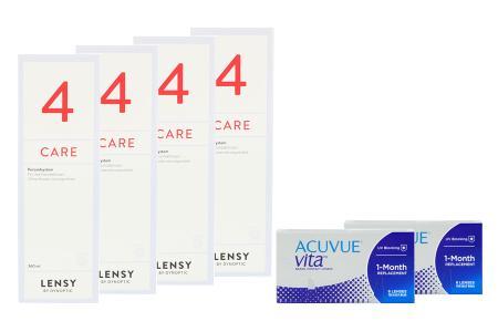 Acuvue Vita 2 x 6 Monatslinsen + Lensy Care 4 Halbjahres-Sparpaket | Acuvue Vita Kontaktlinsen + Lensy Care 4 - Halbjahres-Sparpaket