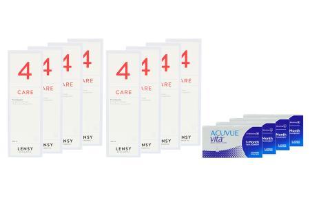 Acuvue Vita 4 x 6 Monatslinsen + Lensy Care 4 Jahres-Sparpaket   Acuvue Vita Kontaktlinsen + Lensy Care 4 - Jahres-Sparpaket