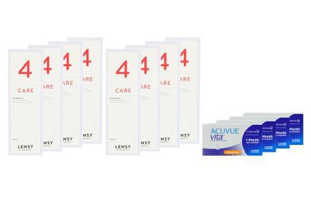 Acuvue Vita for Astigmatism  4 x 6 Monatslinsen + Lensy Care 4 Jahres-Sparpaket | Acuvue Vita for Astigmatism + Lensy Care 4 - Jahres-Sparpaket