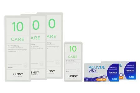 Acuvue Vita for Astigmatism 2 x 6 Monatslinsen + Lensy Care 10 Halbjahres-Sparpaket | Acuvue Vita for Astigmatism + Lensy Care 10 Halbjahres-Sparpaket