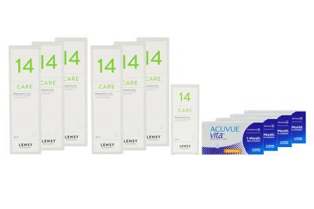 Acuvue Vita for Astigmatism 4 x 6 Monatslinsen + Lensy Care 14 Jahres-Sparpaket | Acuvue Vita for Astigmatism Kontaktlinsen +  Lensy Care 14 Jahres-Sparpaket