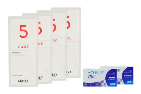 Acuvue Vita 2 x 6 Monatslinsen + Lensy Care 5 Halbjahres-Sparpaket   Acuvue Vita + Lensy Care 5 - Halbjahres-Sparpaket