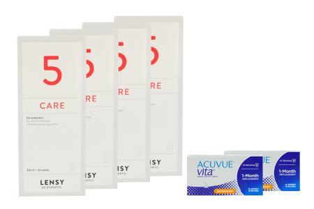 Acuvue Vita for Astigmatism 2 x 6 Monatslinsen + Lensy Care 5 Halbjahres-Sparpaket | Acuvue Vita for Astigmatism + Lensy Care 5 - Halbjares-Sparpaket