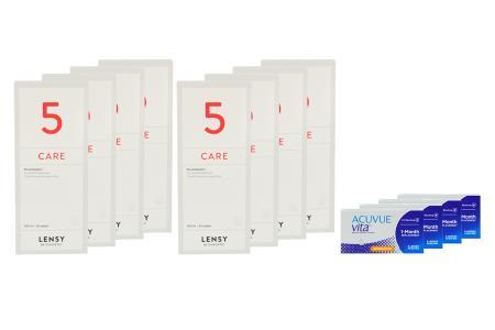 Acuvue Vita for Astigmatism 4 x 6 Monatslinsen + Lensy Care 5 Jahres-Sparpaket   Acuvue Vita for Astigmatism + Lensy Care 5 - Jahres-Sparpaket