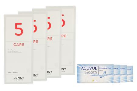 Acuvue Oasys 4x6 Zwei-Wochenlinsen + Lensy Care 5 Halbjahres-Sparpaket