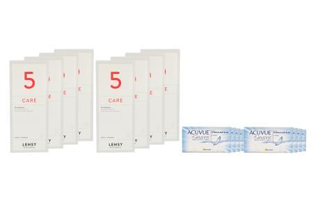 Acuvue Oasys 8 x 6 Zwei-Wochenlinsen + Lensy Care 5 Jahres-Sparpaket
