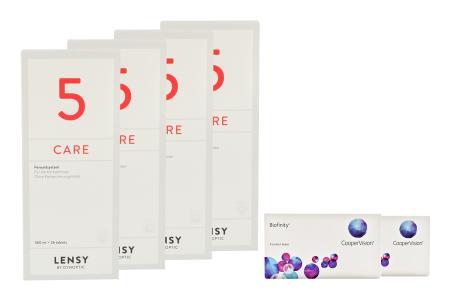 Biofinity 2 x 6 Monatslinsen + Lensy Care 5 Halbjahres-Sparpaket | Biofinity Kontaktlinsen von Cooper Vision + Lensy Care 5 - Halbjahres-Sparpaket