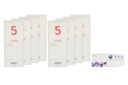 Biofinity 4 x 6 Monatslinsen + Lensy Care 5 Jahres-Sparpaket | Biofinity Kontaktlinsen von Cooper Vision + Lensy Care 5 - Jahres-Sparpaket