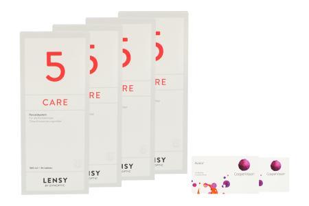 Avaira Vitality 2 x 6 Monatslinsen + Lensy Care 5 Halbjahres-Sparpaket