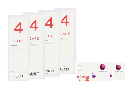 Avaira toric Vitality 2 x 6 Monatslinsen + Lensy Care 4 Halbjahres-Sparpaket