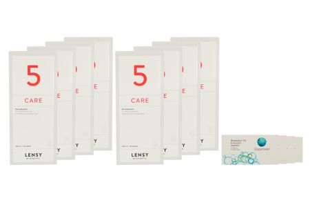 Biomedics 55 4 x 6 Monatslinsen + Lensy Care 5 Jahres-Sparpaket