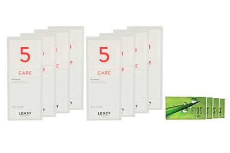 Bios Comfort 4 x 6 Monatslinsen + Lensy Care 5 Jahres-Sparpaket