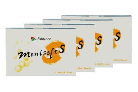 Menisoft S 4 x 6 Zwei-Wochenlinsen | Menisoft S, Menicon PremiO