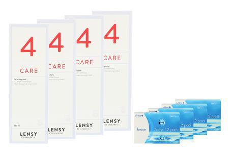 Fusion 7 Days 4 x 12 Wochenlinsen + Lensy Care 4 Halbjahres-Sparpaket   Fusion 7 Days Kontaktlinsen von Conil + Lensy Care 4 - Halbjahres-Sparpaket