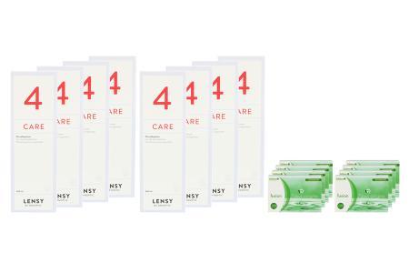 Fusion 7 Days Astigma 8 x 12 Wochenlinsen + Lensy Care 4 Jahres-Sparpaket | Fusion 7 Days Astigma 8 x 12 Wochenlinsen + Lensy Care 4 Jahres-Sparpaket