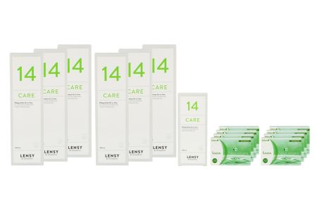 Fusion 7 Days Astigma 8 x 12 Wochenlinsen + Lensy Care 14 Jahres-Sparpaket | Fusion 7 Days Astigma 8 x 12 Wochenlinsen + Lensy Care 14 Jahres-Sparpaket