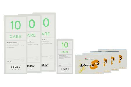 Menisoft S 4 x 6 Zwei-Wochenlinsen + Lensy Care 10 Halbjahres-Sparpaket