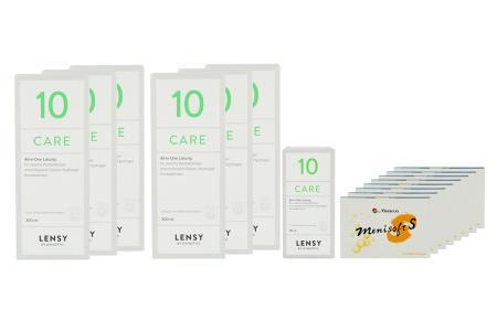 Menisoft S 8 x 6 Zwei-Wochenlinsen + Lensy Care 10 Jahres-Sparpaket | Menisoft S 8 x 6 Zwei-Wochenlinsen + Lensy Care 10 Jahres-Sparpaket