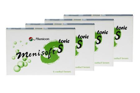 Menisoft S toric 4 x 6 Zwei-Wochenlinsen | Menicon S toric / 14-Wochenlinsen / Menicon PremiO toric