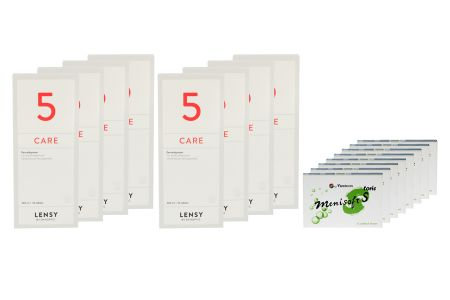 Menisoft S toric 8 x 6 Zwei-Wochenlinsen + Lensy Care 5 Jahres-Sparpaket | MeniSoft S toric 14-Tageslinsen / Sparpaket / Lensy Care 5