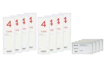 Lensy Monthly Relax Spheric 4 x 6 Monatslinsen + Lensy Care 4 Jahres-Sparpaket | Lensy Monthly Relax Spheric 4 x 6 Monatslinsen + Lensy Care 4 Jahres-Sparpaket