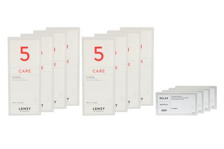 Lensy Monthly Relax Spheric 4 x 6 Monatslinsen + Lensy Care 5 Jahres-Sparpaket