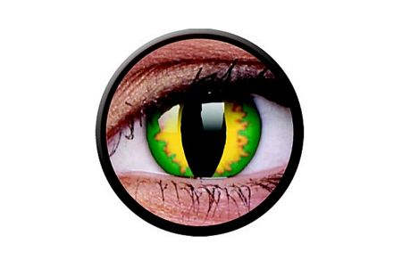 Funny Lens 2 Motiv-Drei-Monatslinsen Green Dragon | Funny Lens 2 Motiv-Drei-Monatslinsen Green Dragon
