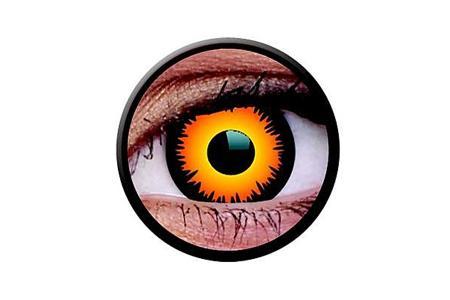 Funny Lens 2 Motiv-Drei-Monatslinsen Orange Werewolf | Funny Lens 2 Motiv-Drei-Monatslinsen Orange Werewolf