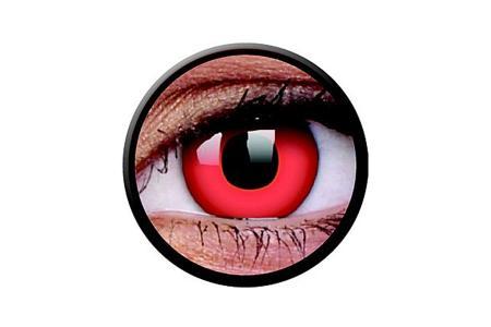 Funny Lens 2 Motiv-Drei-Monatslinsen Red Devil | Funny Lens 2 Motiv-Drei-Monatslinsen Red Devil