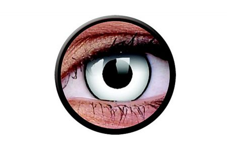 Funny Lens 2 Motiv-Drei-Monatslinsen White Zombie | Funny Lens 2 Motiv-Drei-Monatslinsen White Zombie